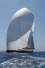 Sailing. Saling boat. Superyacht. Palma Cup. Palma de Mallorca. Spain. Mediterranean Sea