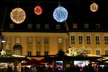 Christmas market, advent market, copy space