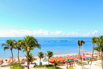 Spoed Fotobehang Cyprus Praia tropical, Praia do Francês, Estado de Alagoas, Brasil