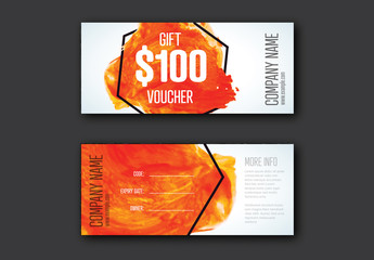 Gift Voucher Card Layout