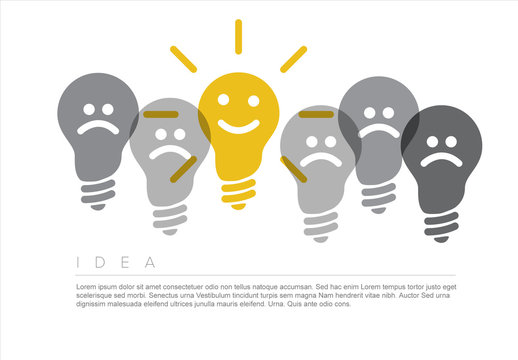 Idea Infographic with Lightbulb Illustration