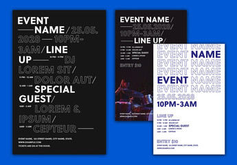 Event Poster with Bold Type Layouts