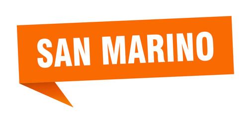 San Marino sticker. Orange San Marino signpost pointer sign Wall mural