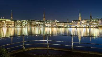 HD Format City Hamburg abends
