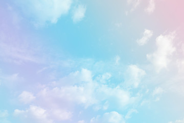 beauty abstract pastel multi color cloudy on sky