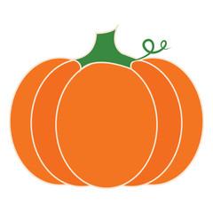 Isolated pumpkin image