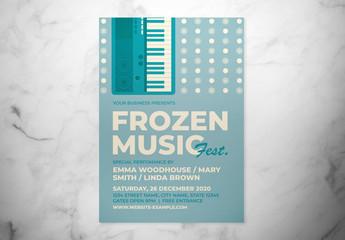 Retro Winter Music Event Flyer Layout