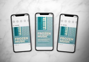 Retro Winter Music Event Social Media Layout