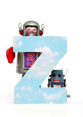 Wall Mural - big letter Z cloud computing