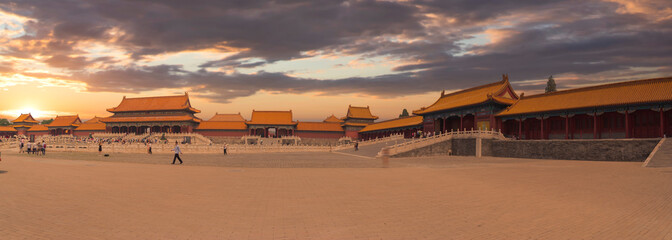 Forbidden City is the largest palace complex in the world. Wall mural