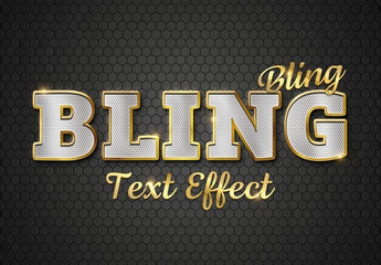 Gold Stroke and Textured Text Effect Mockup