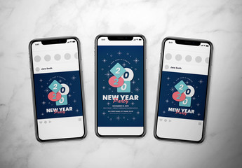 New Year Event Social Media Layout