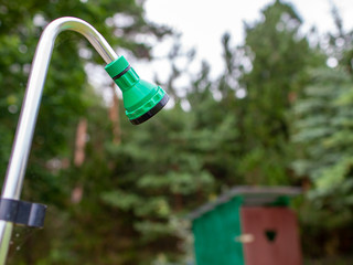 Vanlife: Outdoor Dusche und Plumpsklo