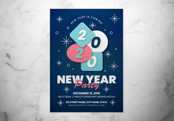 New Year Event Flyer Layout
