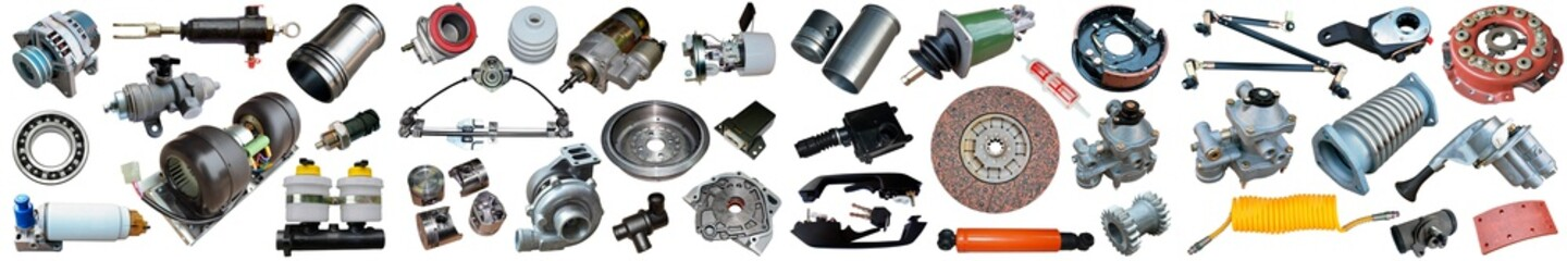 collage parts for auto isolated