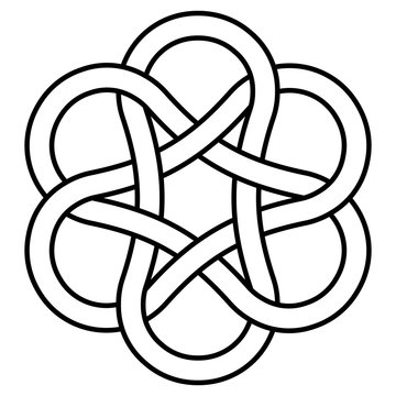 ancient infinity knot pattern, sign is a symbol of good luck and wealth. vector jewelry pattern symbol of luck and enlightenment