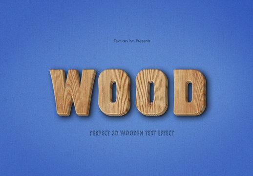 3D Wooden Text Effect