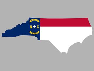 North Carolina Map Flag Vector Wall mural