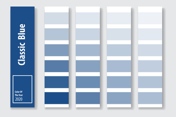 Color of the year 2020 classic blue for advertising. Vector illustration.