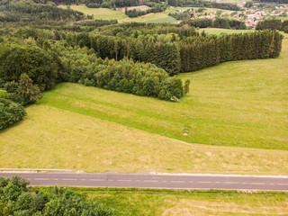 Papiers peints Orange vue aérienne de la campagne vosgienne et de la lorraine