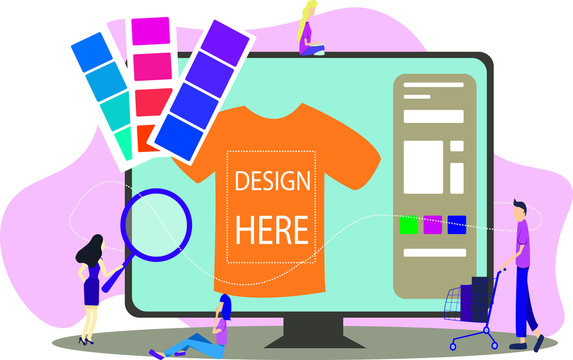 You can design your own T-shirt here. Colorful vector illustration