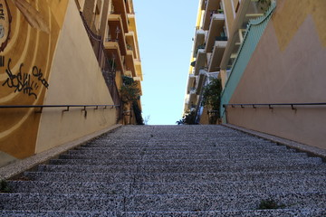 escalier ville immeuble