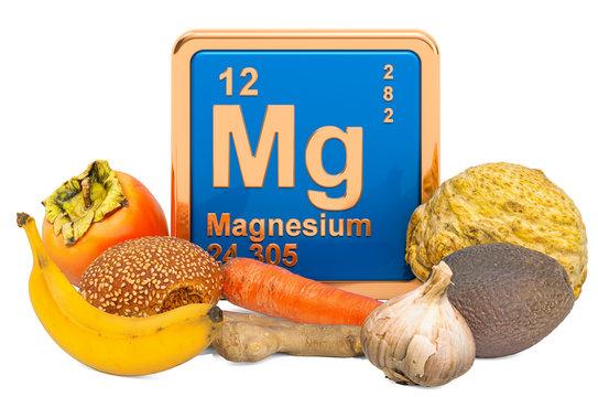 Foods Highest in Magnesium, 3D rendering