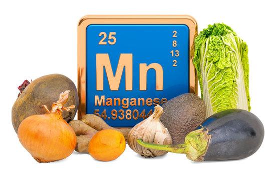 Foods Highest in Manganese, 3D rendering