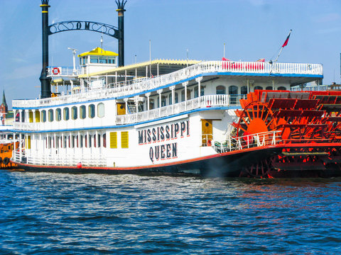 Missisippi Queen steam boat in Hamburg