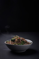 noodles in asian style