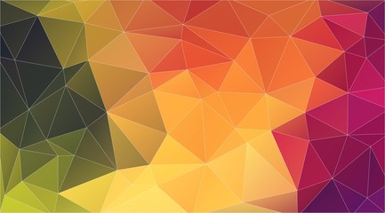 triangle art poster on colorful backdrop. Abstract art background.