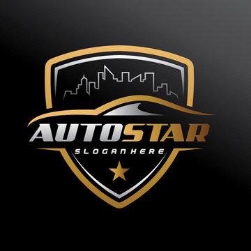Automotive, City Car, Car Service, Car Showroom, Car Repair and Speed Automotive Logo Vector Illustration