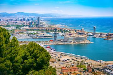 Foto auf Acrylglas Barcelona Panorama of Barcelona, Catalonia, Spain