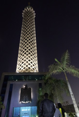 A view of the Cairo Tower in the Zamalek district in the centre of the capital of Cairo