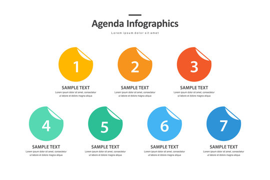 agenda infographic design, chart for planning events