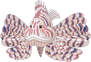 Foto op Aluminium Sprookjeswereld Lionfish/ Pterois