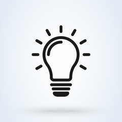 invention and light bulb, Simple modern icon design illustration.