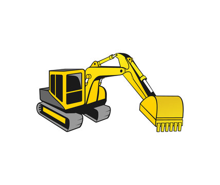 vector of Excavator vector design eps format