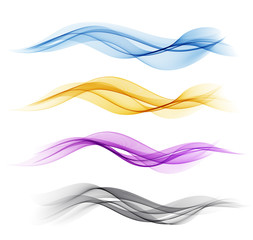 Printed roller blinds Abstract wave Set of color abstract wave design element