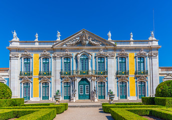 View of the national palace of Queluz in Lisbon, Portugal Fototapete