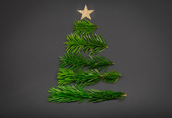 Merry Christmas or New Year decoration black background