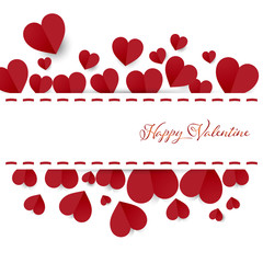 hearts background of valentine card