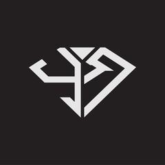 Obraz YR Logo monogram with diamonds shape ribbon designs template isolated on black backgrond - fototapety do salonu