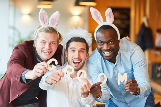 Friends in disguise celebrate bachelor party