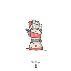 Ski Glove - Line color icon