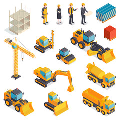 Isometric Building Equipment Set