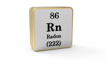3d Radon Element Sign. Stock image