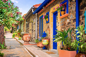Colorful streets of Collioure