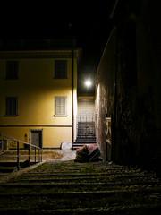 Night scene in Nesso a village on Lake Como