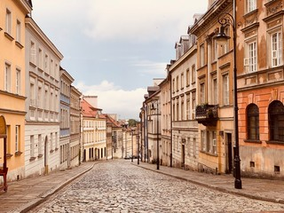 old street in Warsaw